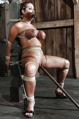 Dominate women in latex