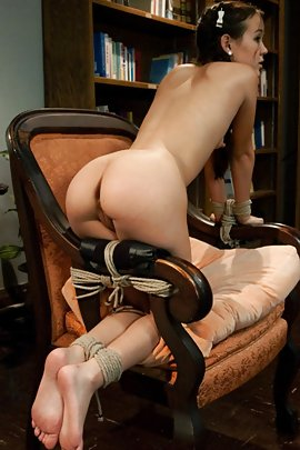 Women tied to chair naked